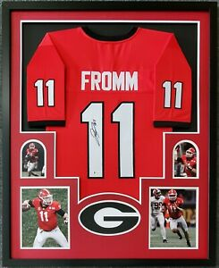 FRAMED GEORGIA BULLDOGS JAKE FROMM AUTOGRAPHED SIGNED JERSEY BECKETT COA
