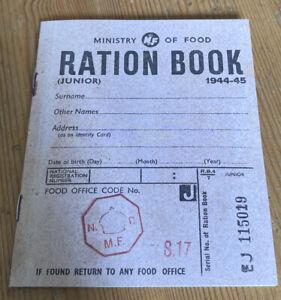 Replica - WWII -  Ration Book - World War 2 Ration Book - Replica