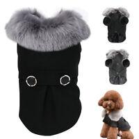 Dog Clothes Black Dog Clothes Jacket Coat  Puppy Clothes Small Dog Clothes S-2XL