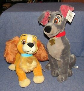 Lady and the Tramp Authentic Original Disney Store Plush, New with Tags