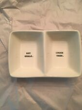 """""""Set Goals Crush Them"""" Rae Dunn artisan collection snack / jewelry tray / dish"""
