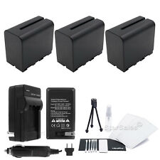 3x Sony NPF-970 Replacement Battery + AC/DC Charger