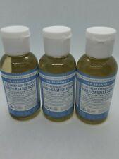 Dr Bronner's 18-In-1 Hemp Baby Mild Pure-Castile Soap 2 oz Organic lot of 3