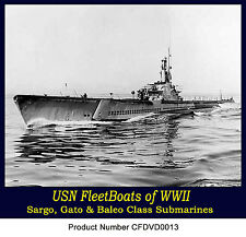US Navy Fleetboat Submarines of WW2 - Gato - Sargo - S and V Boats