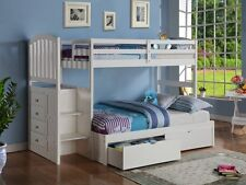 Bunk Bed with Stairs & Storage in Twin/Full