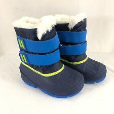 Cat & Jack Toddler Boys Lev Winter Boots Faux Fur Trim Water Resistant Blue 7