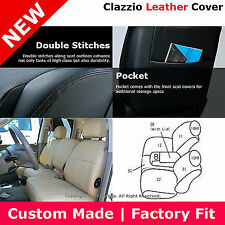 Clazzio First Row Leather Seat Cover Black 11-12 Dodge Ram 1500 2500 Regular Cab