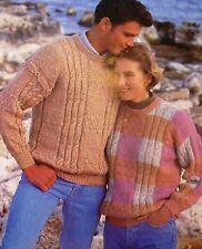 """#194, 30-44"""" 86-112cm DK adulto gli adolescenti con Motivo Maglione A Maglia Vintage Modello"""
