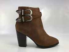 Womens High Heels Booties Ankle Boots Buckle Fashion Low Shoes Wedge Size Pumps