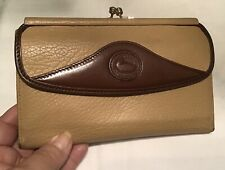 Vintage Dooney Bourke All Weather Leather Checkbook Wallet Mushroom Taupe Brown