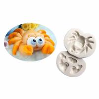 3D Crab Silicone Fondant Baking Cake Cartoon Mould Sugarcraft Decorating mold LE