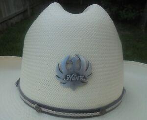 "Hank Williams Jr. ""HANK"" double stud hat lapel pin new"