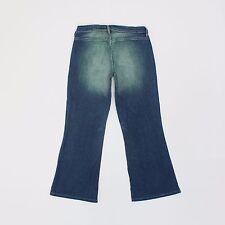 Diesel Femme 30 W 27 L Court Jambe Bootcut Jeans Bleu