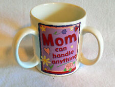 Encore Papel Giftware 3 handle Coffee Mug Cup Mom can handle anything