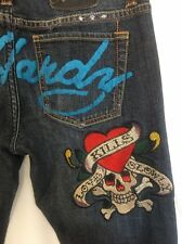Ed Hardy Womens Boot Cut  Embroidered Jeans Love Kills Slowly Heart Skull 27
