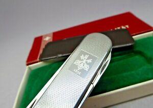 Victorinox / UBS 74mm Ambassador in box Swiss Army Knife Steel Scales