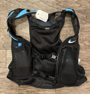 Nike Kiger Trail Lightweight Running Vest Black Blue NRLA1-018 Size Small