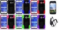 LCD+CC+ T-Stand Hybrid Cover Case for Samsung Galaxy Ace Style S765C Phone