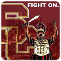 "USC University of Southern California Trojan Warrior ""Fight On"" with logo Magnet"