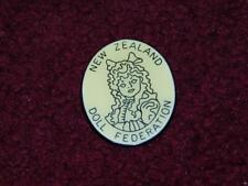 New Zealand Doll Federation Collector Lapel Pin Souvenir Vintage Brooch