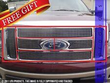 GTG 2009 - 2012 Ford F150 Lariat / King Ranch 7PC Polished Billet Grille Kit