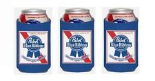 Pabst Blue Ribbon Pbr 3 Beer Can Wrap Coolers Koozie Coolie Hugie New