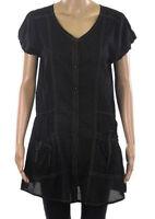 LAURA ASHLEY Ladies Black Short Sleeve Tunic Dress / Top  RRP £40.00