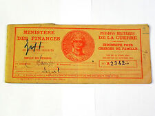 Carnet des tickets Pension Militaires d'Invalidité. Lézat (Ariège). 1935