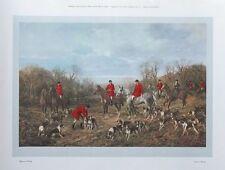 Autumn Meeting - Heywood Hardy - original 1983 vintage hunting print- 30x46cm