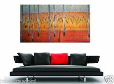 210cmx 120cm Huge  bush scrub flower original tree art By jane crawford