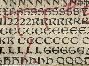Tell Text 18 pt. - Letterpress - Metal type - Printers Type