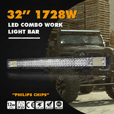 "Tri Row 31""inch 1728W LED Light Bar Spot Flood Combo Beam Car Boat 4WD 32"" MA43"
