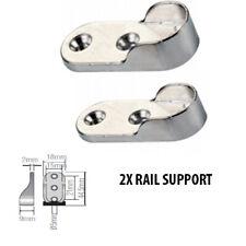 2 X Rail Hanger Standard Tube Support Wardrobe Rod Socket Fitting Round Bracket