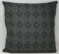 "Oake Ombré Stripe Embroidered Cotton Decorative Pillow 20"" x 20"" - Black"