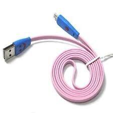 1m Flat Noodle Micro USB Cable de sincronización de datos USB largo color Cargador Samsung HTC..