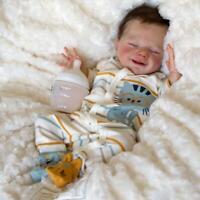 "20"" Realistic Newborn Baby Soft Full Body Silicone Reborn Doll Birthday Gift"