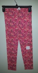 NEW Old Navy Girls SIZE 10-12 Leggings CORAL PINK FLORAL Pants NWT  #94218