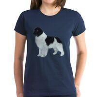 CafePress Newfoundland Landseer Women's Dark T Shirt Womens T-Shirt (380407360)