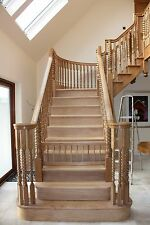 Bespoke staircases made to Measure Oak,Pine,Mahogany,Ash,Idigbo  Uk delivery
