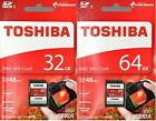 LOT Toshiba SDHC 32GB 64GB SDXC SD 48MB/s Class 10 UHS-I Flash Card
