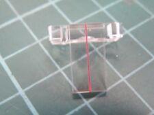 Vintage radio perspex sliding tuning indicator with 1mm cord slot Eddystone?CA58