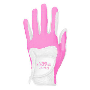FIT39EX Golf Glove Men's/Women's White Leather Base Stretchable Fit Non-slip