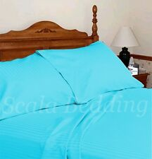 All size & color Satin Stripe 100% Egyptian Cotton Attached Waterbed Sheet set