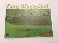 """Canon New FD Lens Guide Book """"Lens Wonderland"""""""