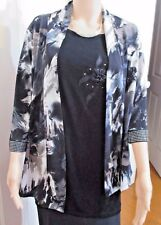 Ladies Millers Jersey Floral 3/4 sleeves Jacket with Beaded cuff  size 14
