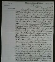 POLICE REPORT ,PC EVIDENCE ON 31st AUGUST 1888 , JACK THE RIPPER MURDER ,HISTORY