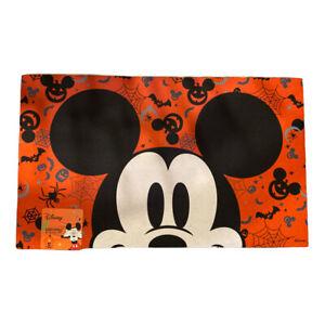 Disney Mickey Mouse Rubber Mat Halloween Pumpkin 18x30 Bat Ghost New