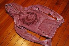 "Women's Volcom ""Moon"" Pink Burnout Lightweight Sweatshirt Hoodie (Small)"