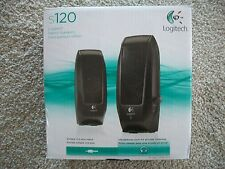 Logitech S120 Stereo Speakers - Computer -Ipod - Mac -  MP3  #980-000309