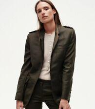 GABRIELA HEARST wool blazer jacket dark green khaki olive frayed barneys 36